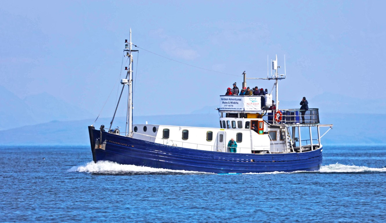 A fully converted offshore fishing vessel, specifically designed for wildlife observation and coastal live aboard charter with two purpose-built raised observation decks.