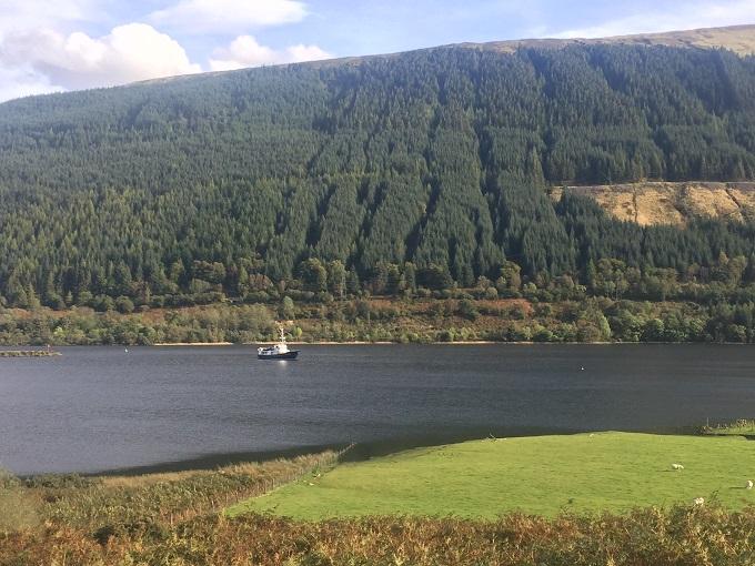Elizabth G on Loch Lochy © Robin McKelvie