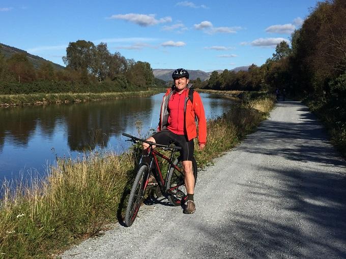 Robin Cycling the Great Glen Cycle Way © Robin McKelvie
